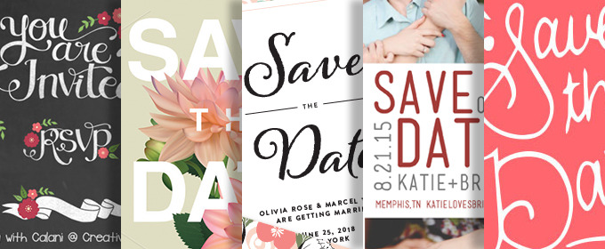 25 creative and unique save the date ideas creative market blog 25 creative and unique save the date ideas junglespirit Choice Image