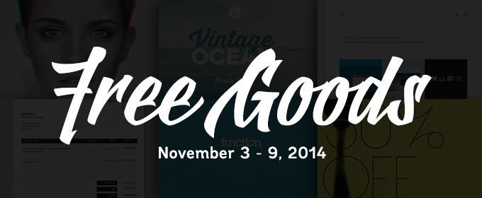 Free Goods of the Week: Nov 3, 2014