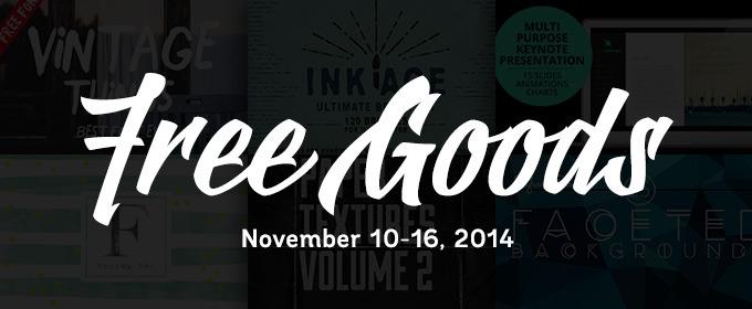 6 Free Design Goods To Download This Week: Nov 10, 2014