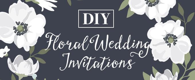 DIY Wedding Invitations: Floral
