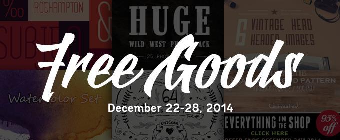 6 Free Design Goods To Download This Week: Dec 22, 2014