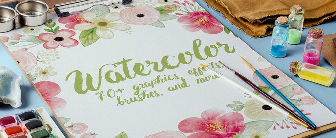 70 Beautiful Watercolor Graphics, Effects, Brushes, and More ...