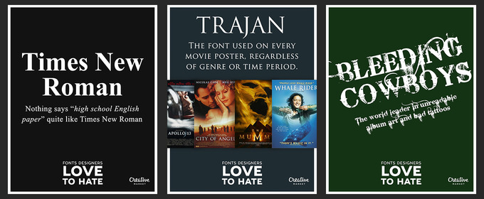 10 Fonts That Designers Love To Hate