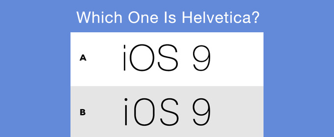 Helvetica Neue vs  San Francisco: Can You Tell The