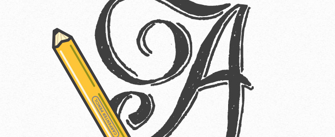How To Create Beautiful Hand Lettering With a $1 Carpenter's Pencil