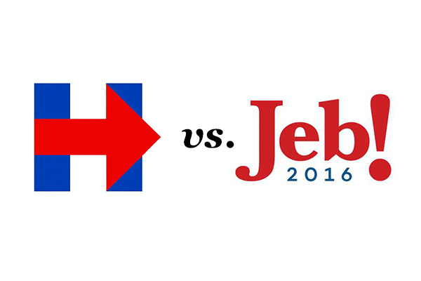Jeb vs. Hillary: Which Logo is Worse?