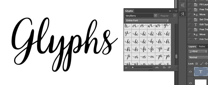 Glyphs Come to Photoshop, Type Lovers Rejoice