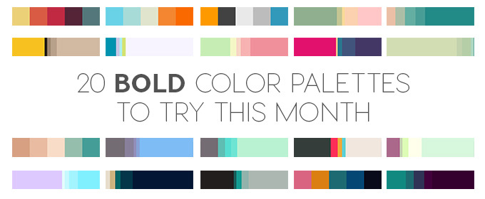 20 Bold Color Palettes to Try This Month: August 2015