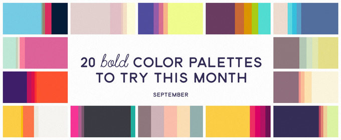20 Bold Color Palettes to Try This Month: September 2015