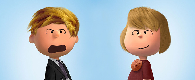 Donald Trump and Other Presidential Candidates as Peanuts Characters