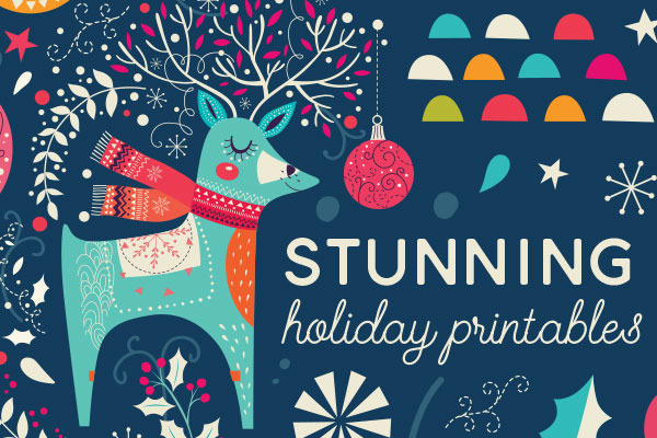 60+ Printable Greeting Cards, Invites & Gift Tags For All Your Holi...