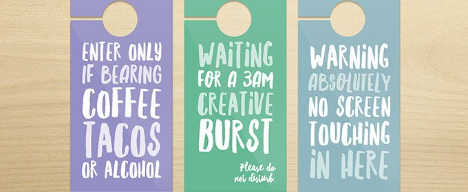10 Brutally Honest Door Hangers Every Designer Needs (+ Free Printables!)