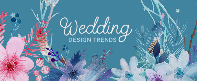 5 creative wedding design trends and matching invitation ideas