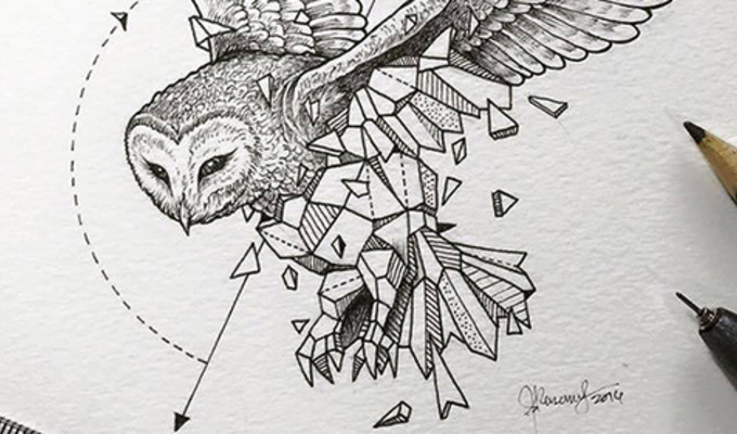 Artist Creates Extraordinary Geometric Animal