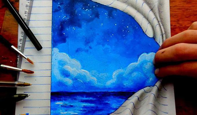This Self-Taught Teenager Draws Mind-Bending 3D Art With Regular Pencils