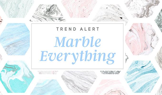 Design Trend Alert: Marble Everything