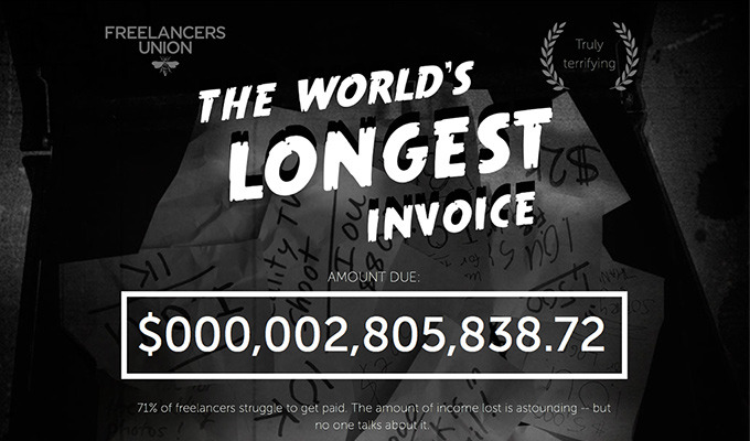The World's Longest Invoice Shows How Much Freelancers Don't Get Paid