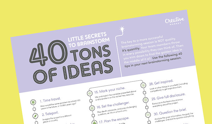 40 Little Secrets to Brainstorm Tons of Ideas
