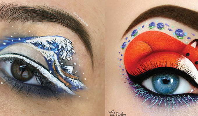 Five Incredible Artists Using Eyelids as Their Canvases