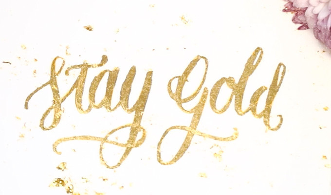 how to use gold foil to create greeting cards invitations