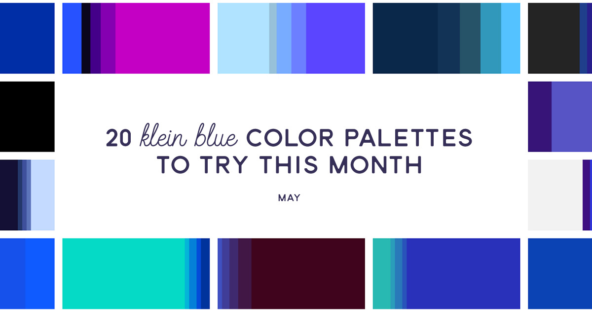 20 klein blue color palettes to try this month  may 2016