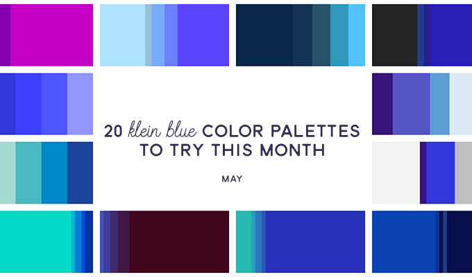 20 Klein Blue Color Palettes To Try This Month May 2016 Creative