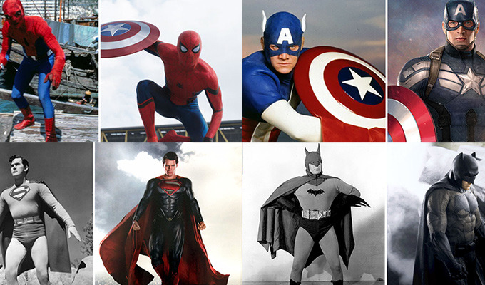 Your Favorite Superheroes Then and Now