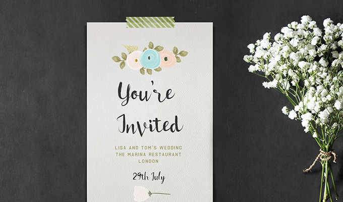 How to Create Brilliant Watercolor Invitations in Photoshop — No Paint Required!