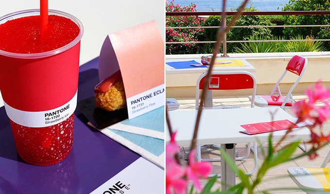 This Pantone-Themed Cafe is The Perfect Spot for a Designer