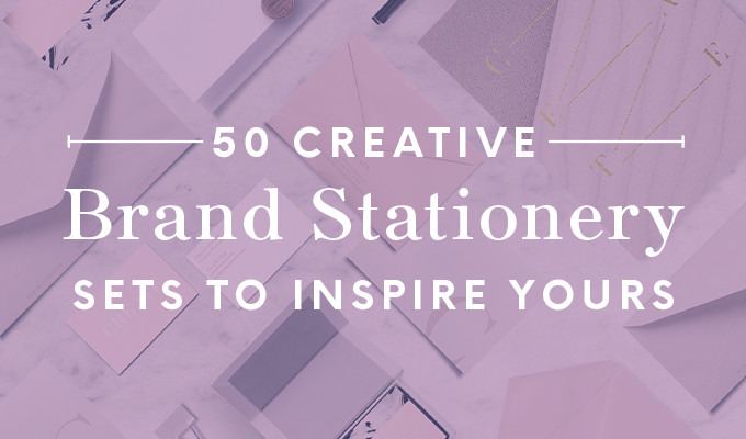 50 Creative Brand Stationery Sets to Inspire Yours