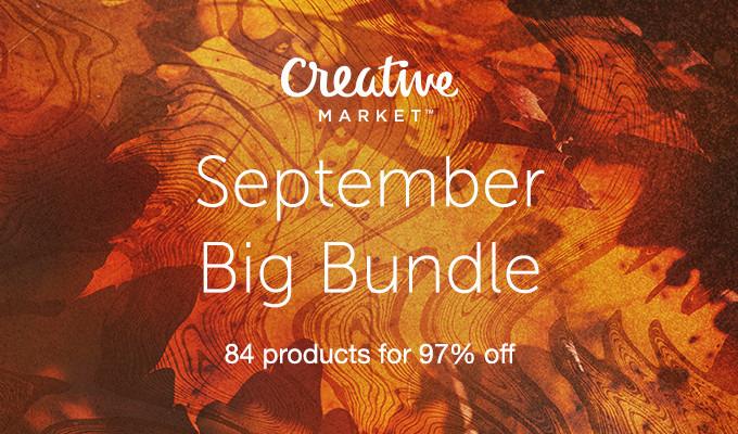 September Big Bundle: Over $1,300 in Design Goods For Only $39!