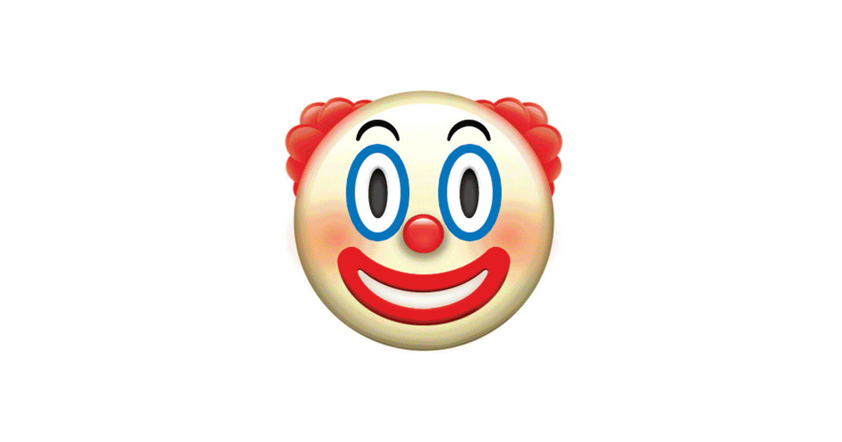The Clown Emoji That Will Give You Nightmares The Rest