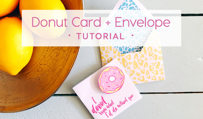 Fun Donut Card and Envelope Tutorial