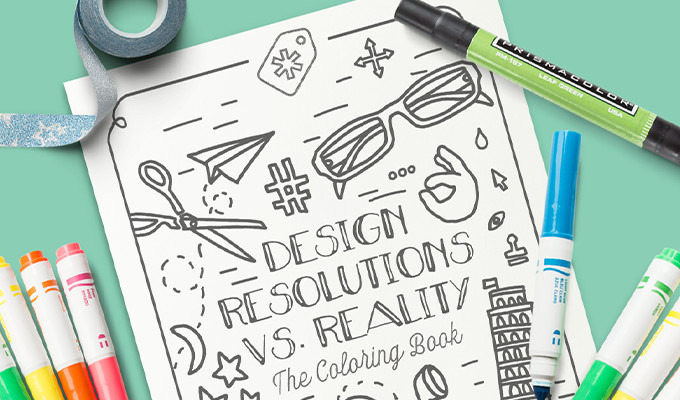 Free Coloring Book: Design Resolutions vs. Reality ~ Creative Market ...