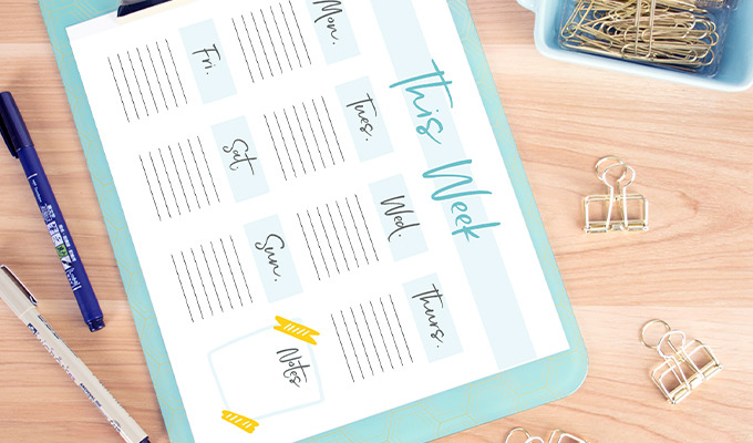 3 Fun Printables to Help You Stay Organized