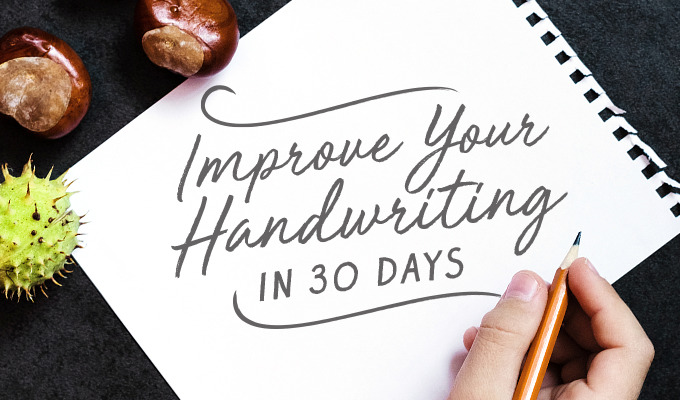 How To Improve Your Handwriting In 30 Days The Challenge Creative