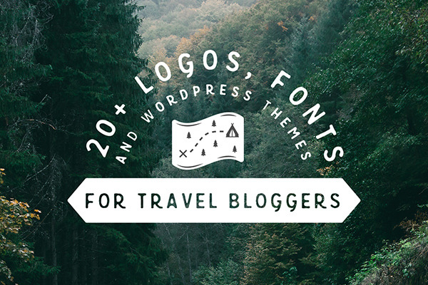 20+ Logos, Fonts & WordPress Themes for Travel Bloggers