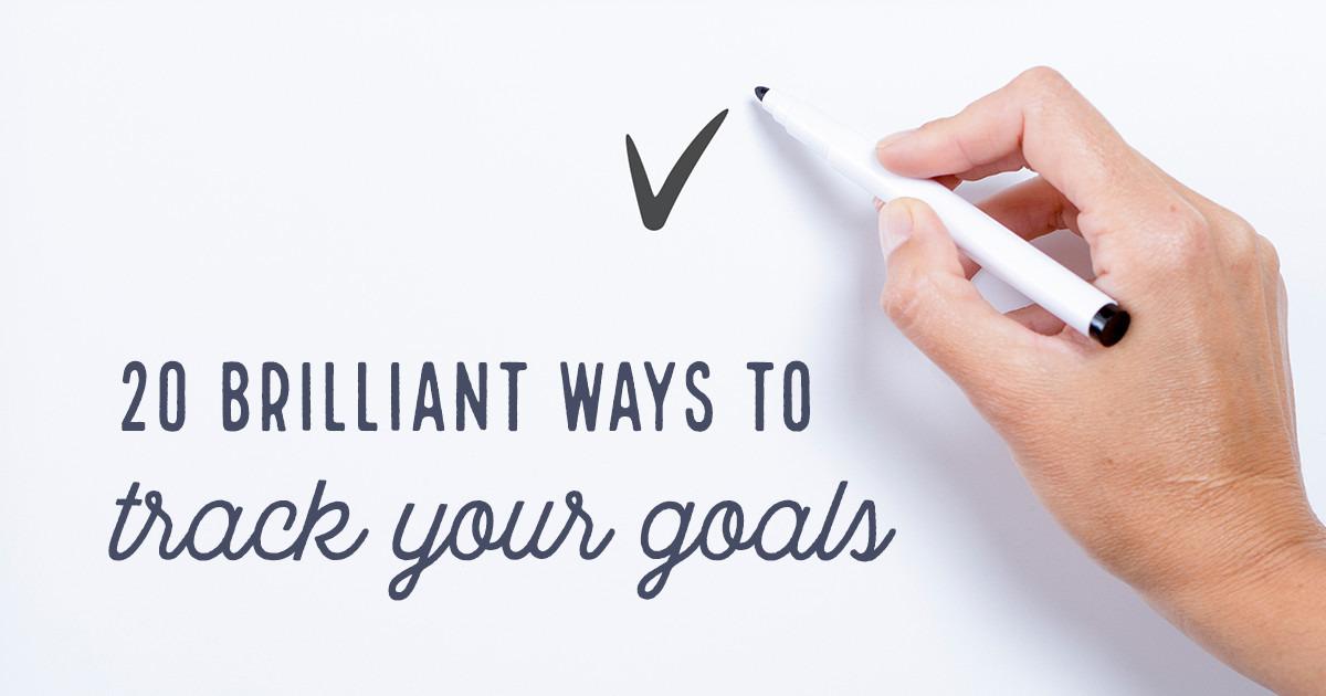 20 brilliant ways to track your goals creative market blog