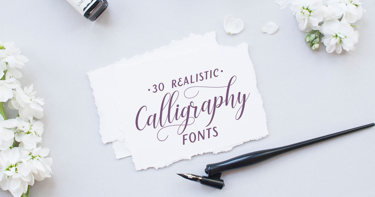 30 impressive calligraphy fonts that look just like the real thing