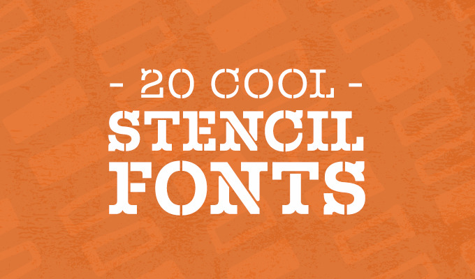20 Cool Stencil Fonts for Your Next Design Project ~ Creative ...