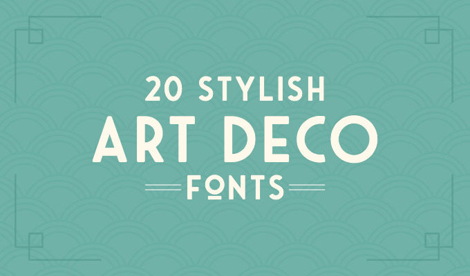 20 Art Deco Fonts to Create Retro Logos, Posters, and Websites