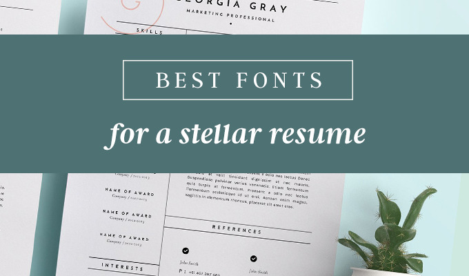 resume heading fonts