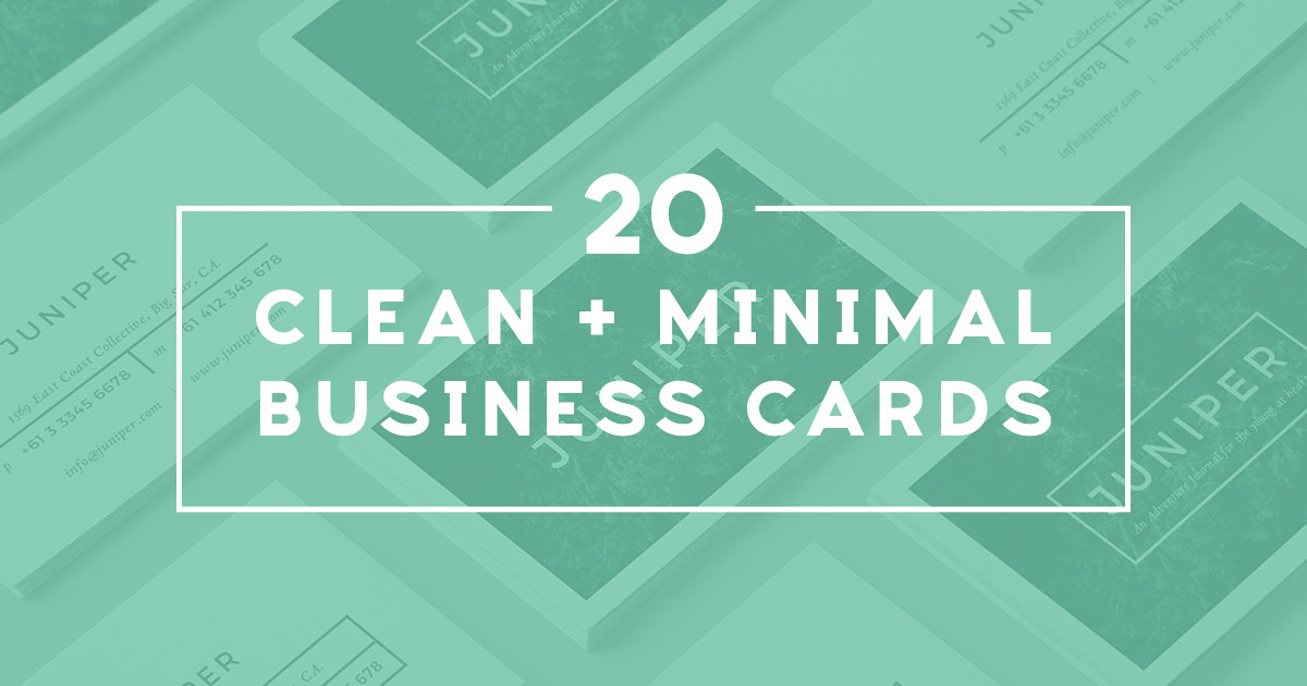 20 Clean and Minimal Business Cards That Stand Out ~ Creative Market ...