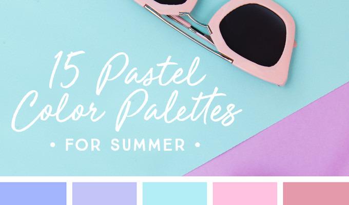 15 Downloadable Pastel Color Palettes For Summer