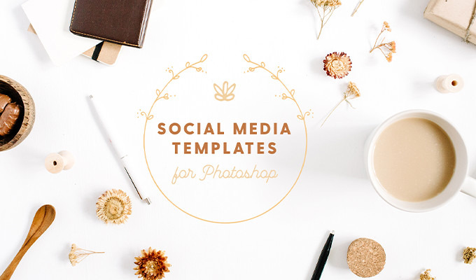 Step up your instagram game with these 20 social media psd templates creative market blog for Social media templates psd