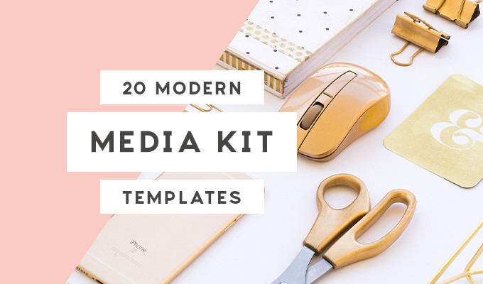 20 Media Kit Templates To Pitch Your Blog To Brands And Journalists Creative Market Blog