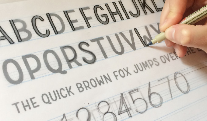 Designing a Hand Drawn Typeface for Creative Market