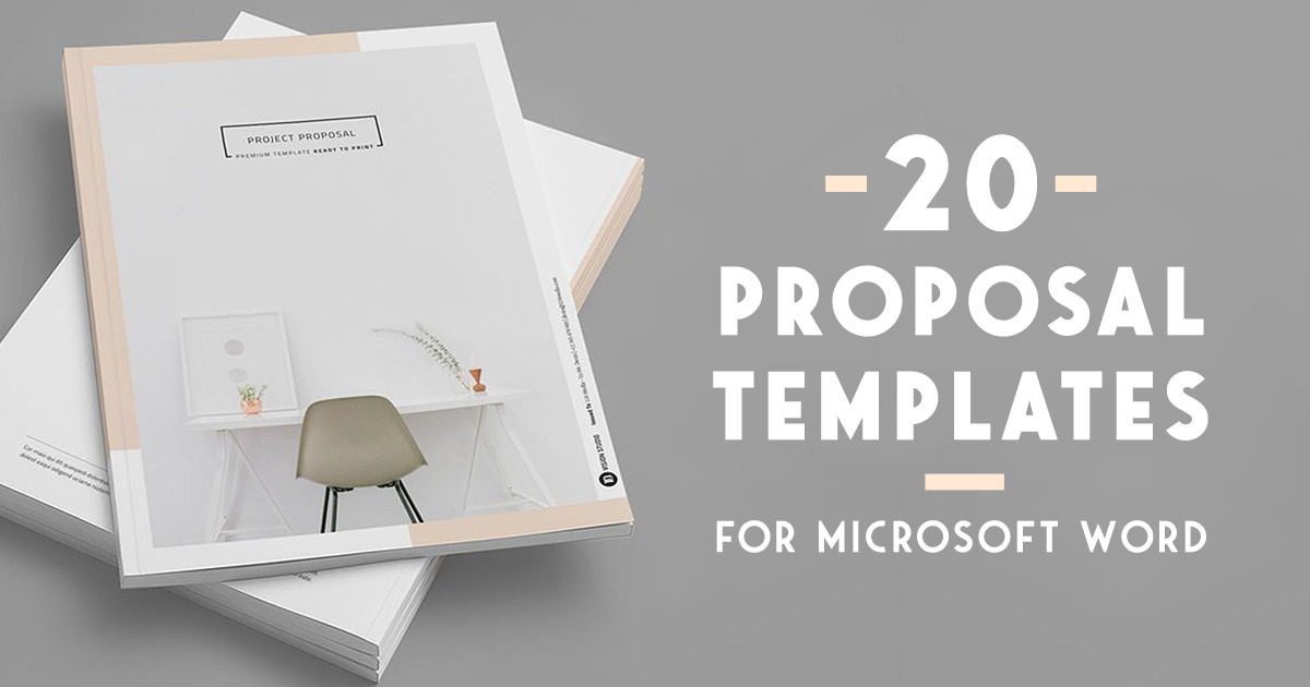 20 Creative Business Proposal Templates You Wonu0027t Believe Are Microsoft Word  ~ Creative Market Blog