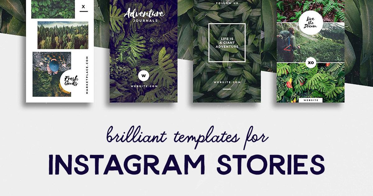 20 Brilliant Instagram Story Templates For Brands Bloggers Creative Market Blog