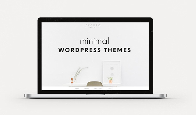 20 Clean & Minimal Wordpress Themes ~ Creative Market Blog